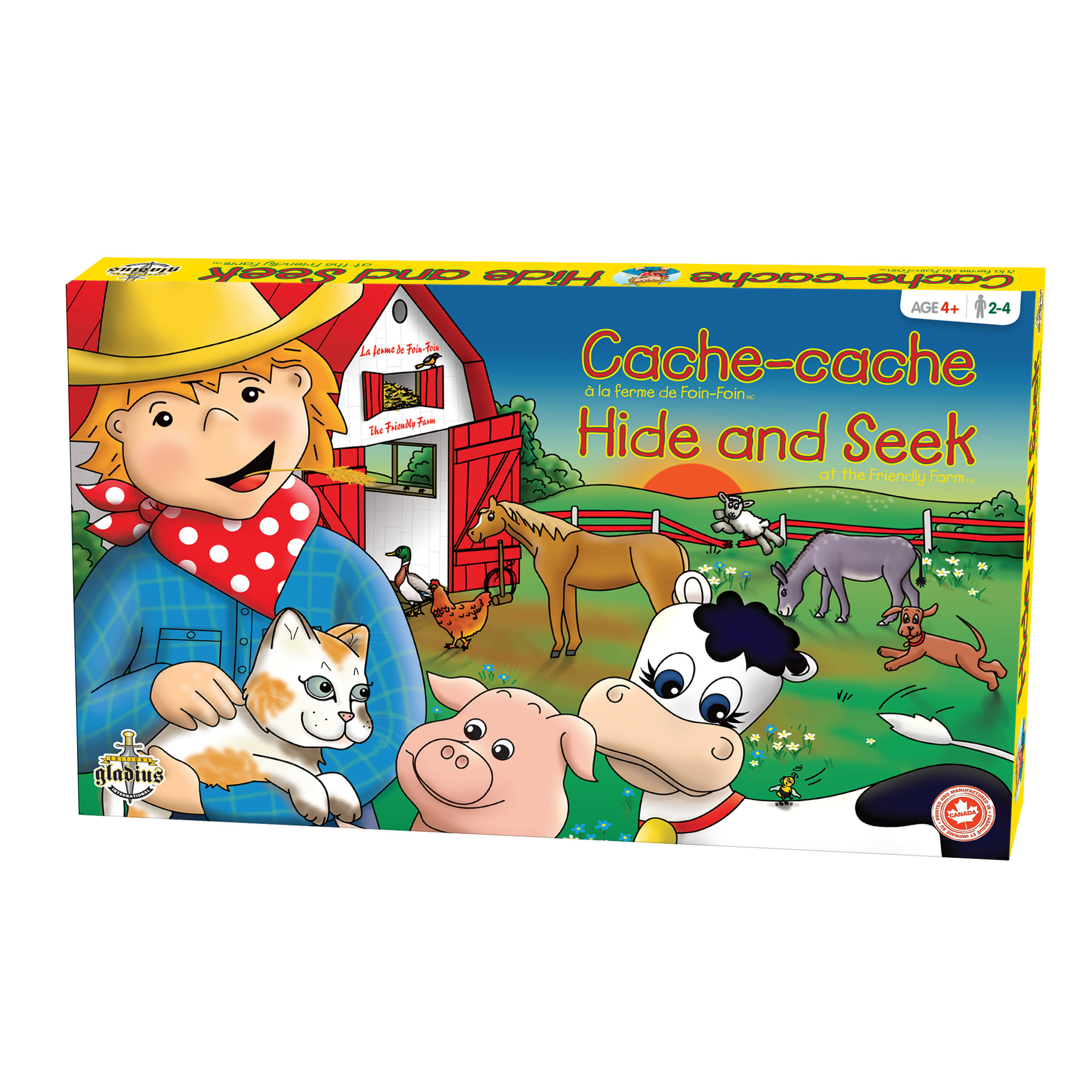 Cache-cache - La Ferme de Foin-Foin boîte / Hide and Seek - The Friendly Farm box