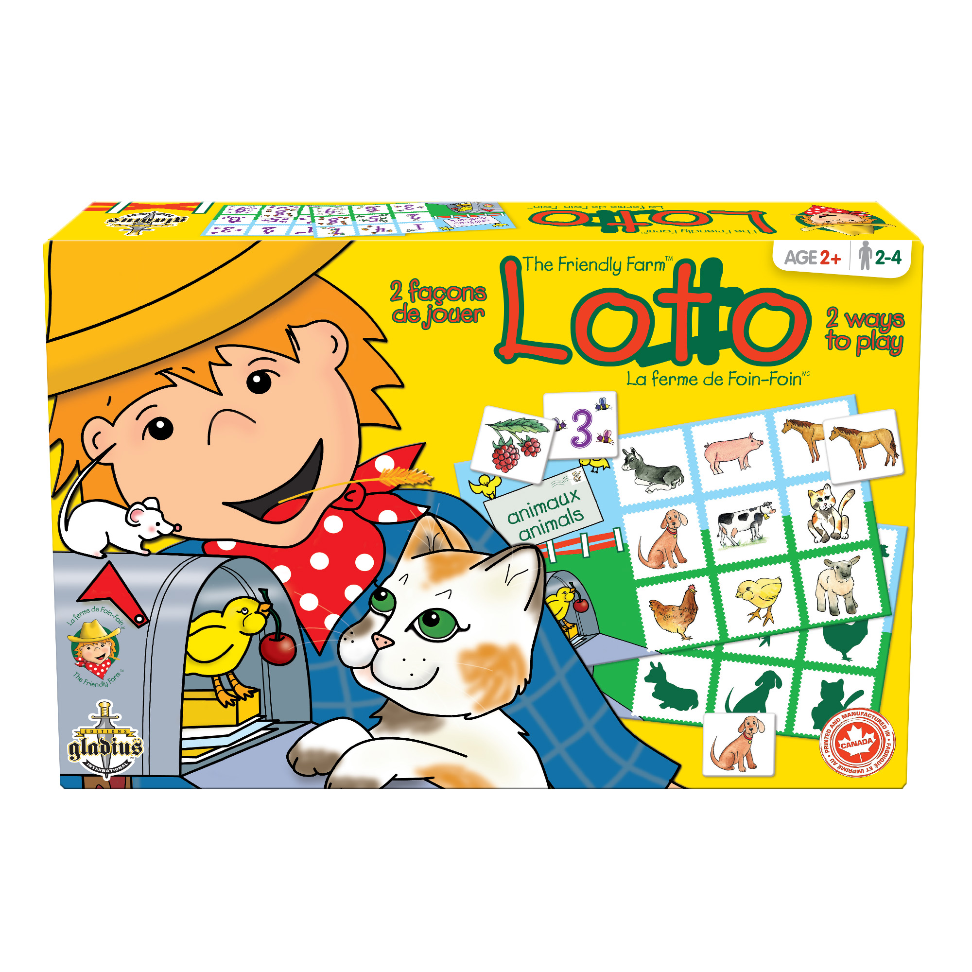 Loto - La Ferme de Foin-Foin boîte / Lotto - The Friendly Farm box
