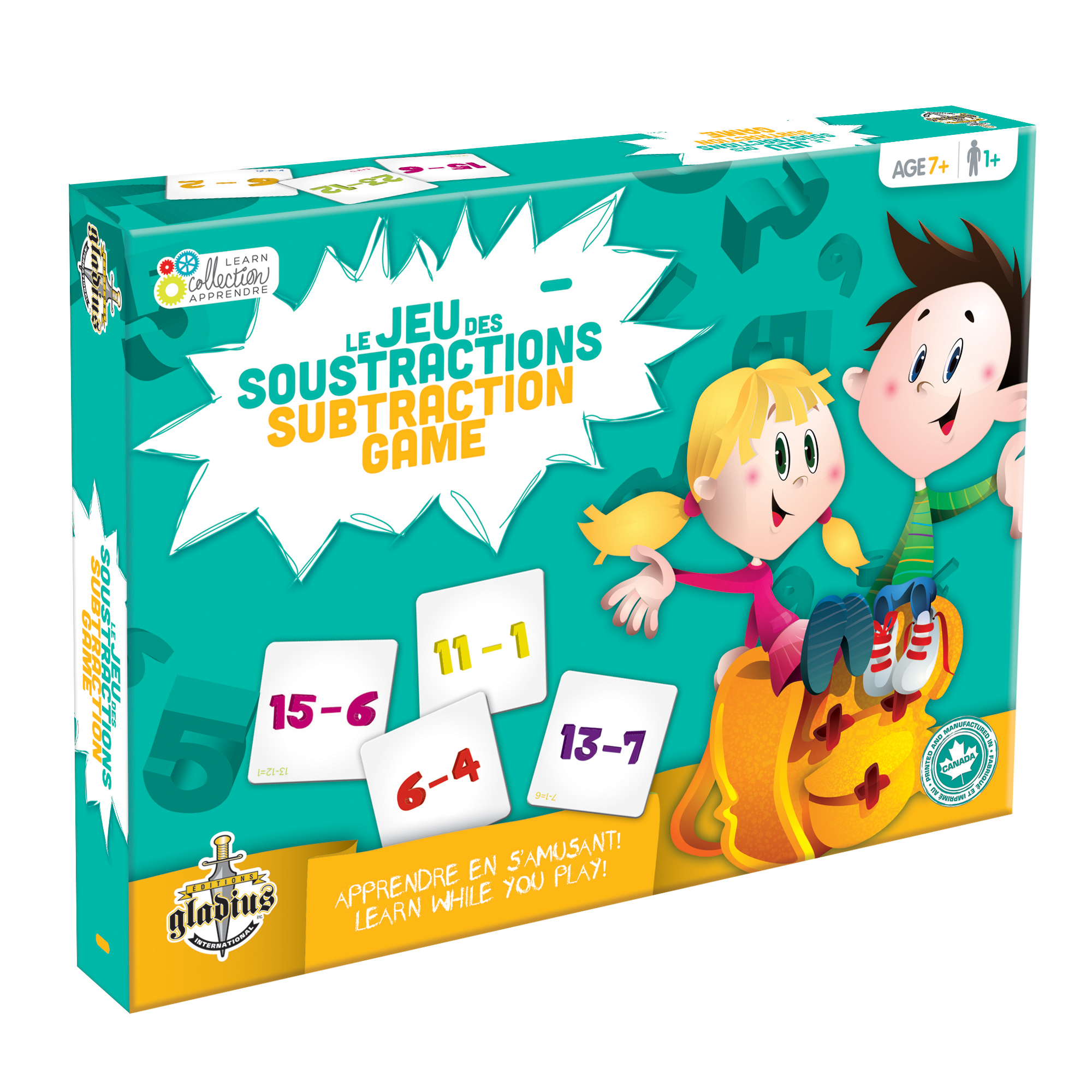 Collection Apprendre - Les soustractions boîte / Learn Collection - Subtraction Game box