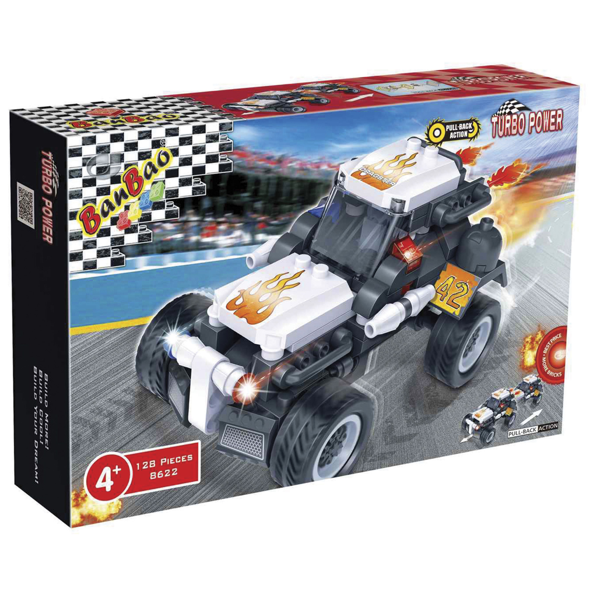 jeux de soci t turbo power camion dragster blanc enfants ditions gladius. Black Bedroom Furniture Sets. Home Design Ideas